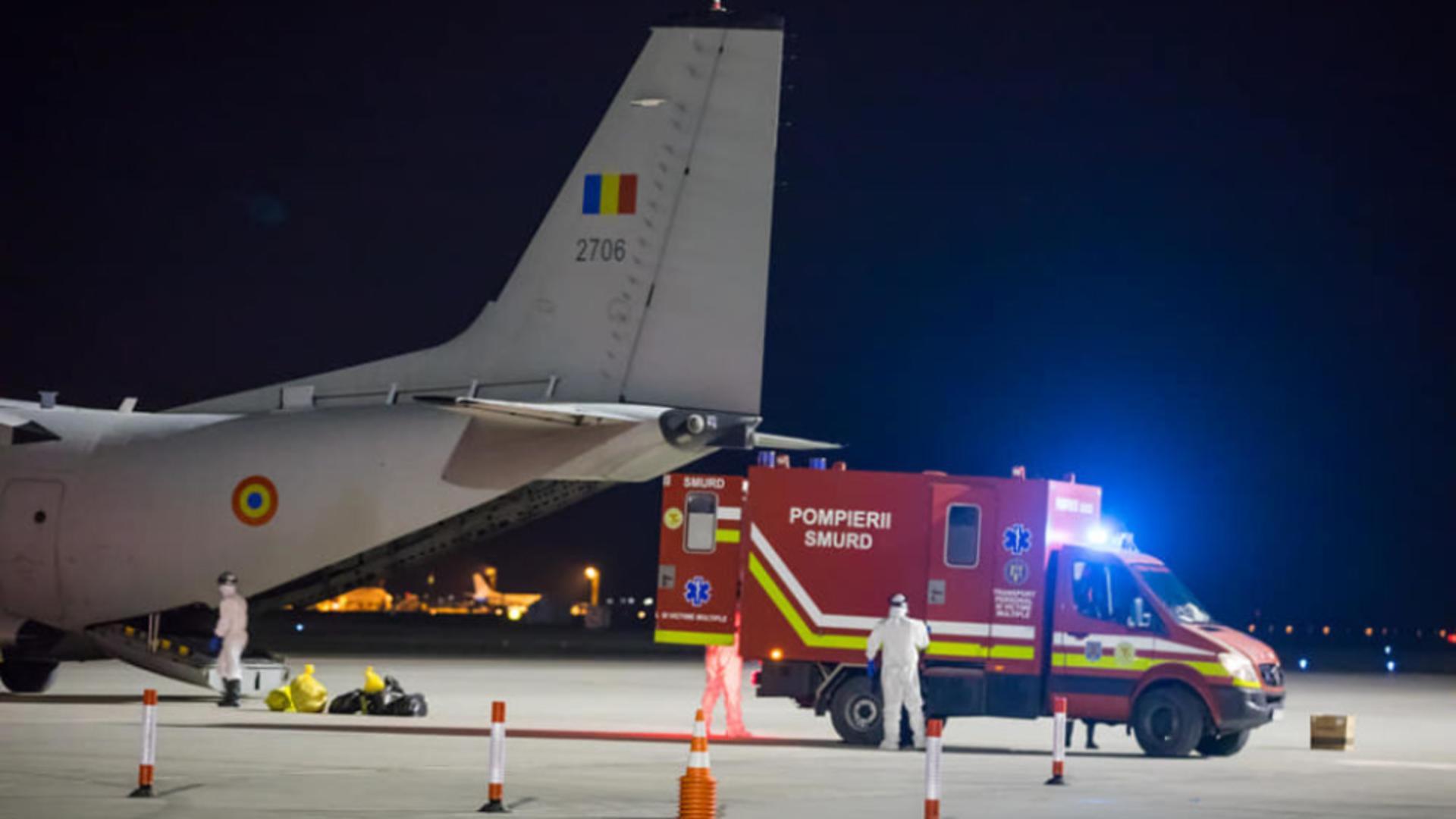 Primi 10 pacienți COVID în stare critică, transferați din România în Ungaria