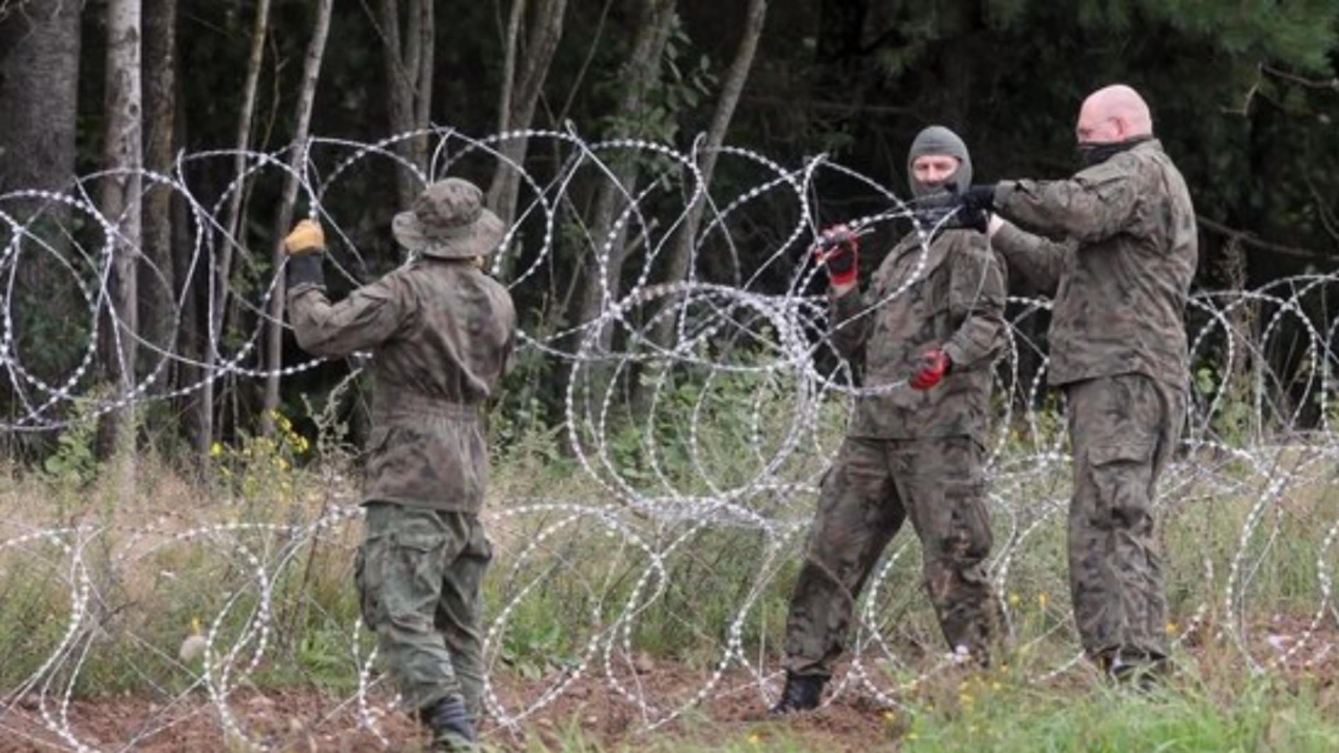 Soluția Poloniei pentru a opri migranții din Belarus - ZID de 253 de milioane de euro